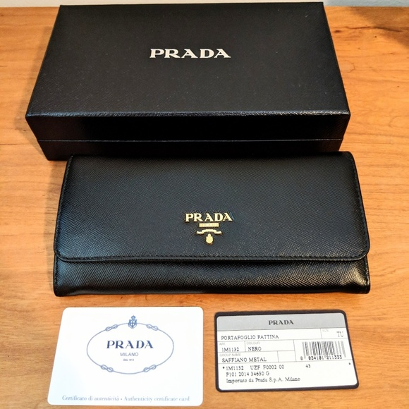 8f54b66812fb5d Prada Bags | New Saffiano Leather Continental Flap Wallet | Poshmark